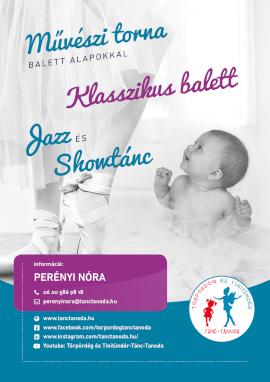 M�v�szi torna, klasszikus balett, jazz �s showt�nc